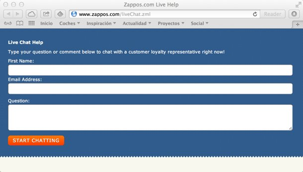 Zappos Atención al cliente Social Media