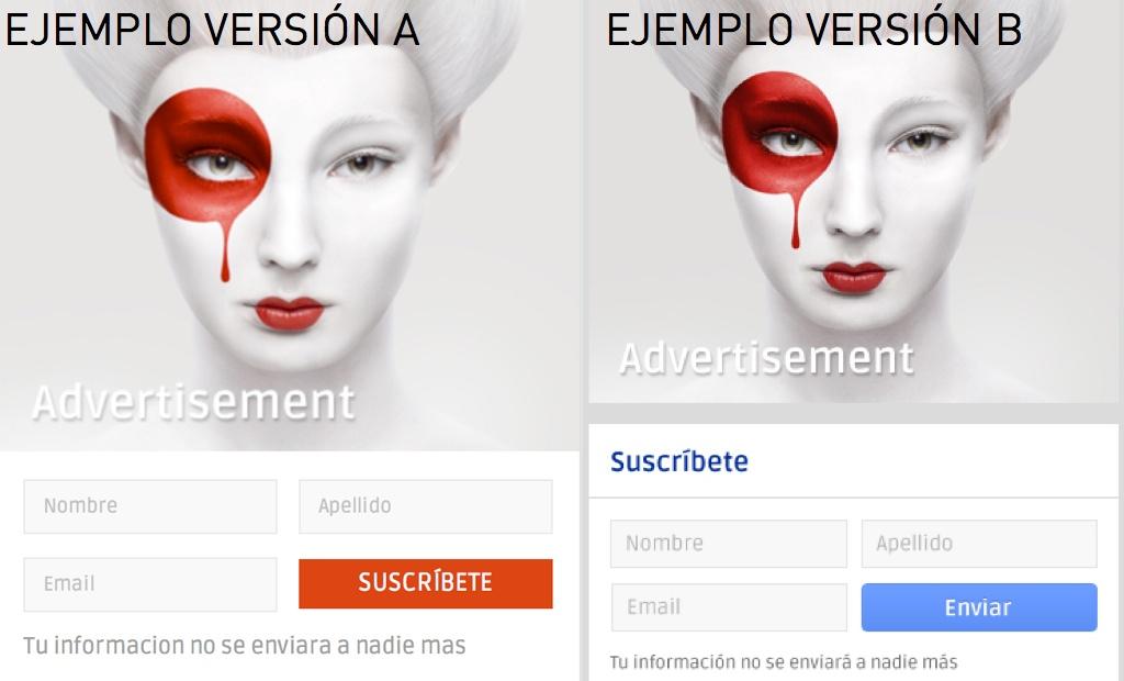 Ejemplos conversión modelos A/B